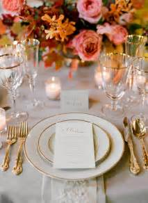 Table Settings For Weddings Fall Wedding Colors Ii Once Wed