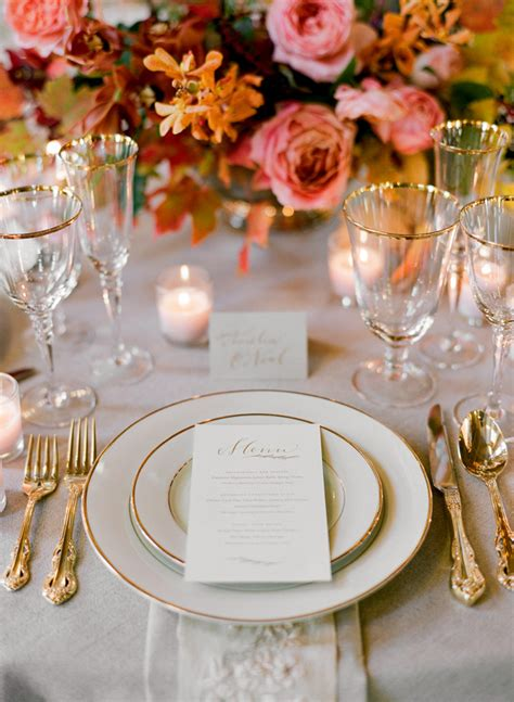 elegant table settings elegant fall wedding colors ii once wed