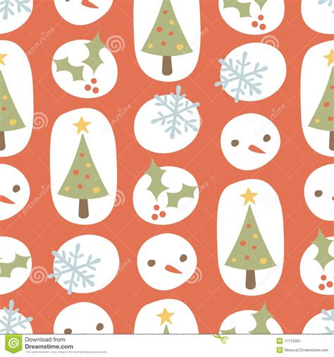 cute christmas pattern cute christmas pattern retro red stock image image 17115301