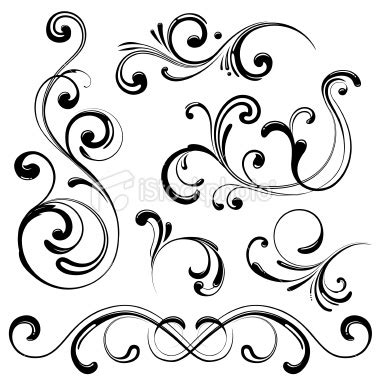 swirly tattoo designs stock illustration swirl design elements free images at