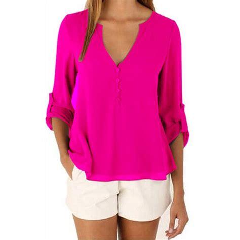 Branded Cato Vneck Blouse fashion brand blouse shirt v neck plus size cheap clothes china blusas feminina clothing