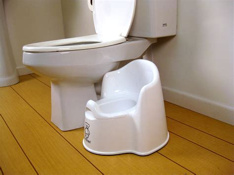 Potty Chair by White Baby Bjorn Potty Chair Potty Concepts