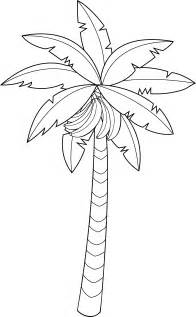 Banana Tree Line Art  Free Clip sketch template