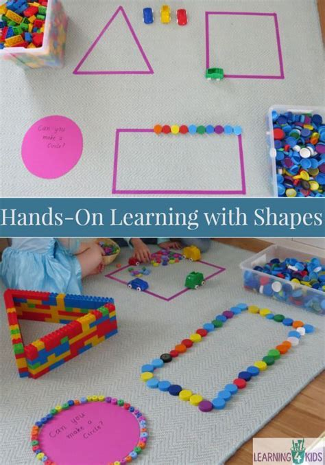 Shape Kiddie Crafts 365 - on learning shapes activities for kid and shape
