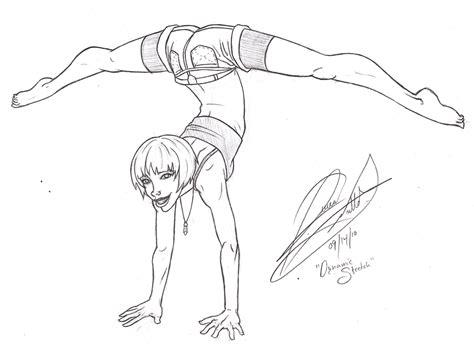 Drawing Of A Doing The Splits by Crankyman Handstand Split By Ravenscarlett On Deviantart