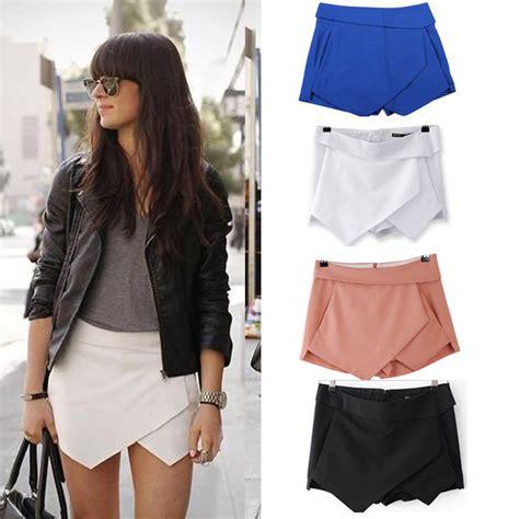 Summer S M Top Skort 31334 2013 new fashion wrap mini skort skirt irregular laminated flanging o ebay