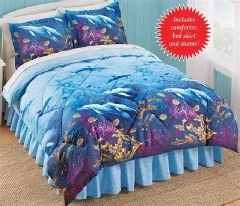 nautical bed in a bag dolphins beach tropical nautical king comforter set 4