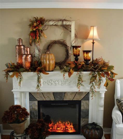 10 Festive Ways To Decorate 13 Festive Ways To Decorate Your Mantel This Fall