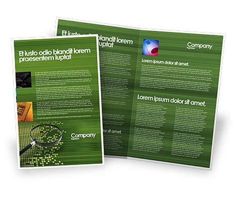 retrieval information brochure template design and layout