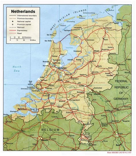 netherlands surrounding countries map the netherlands