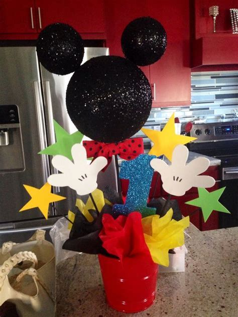Mickey And Minnie Halloween Decorations Centros De Mesa Tema Mickey Mouse Dale Detalles