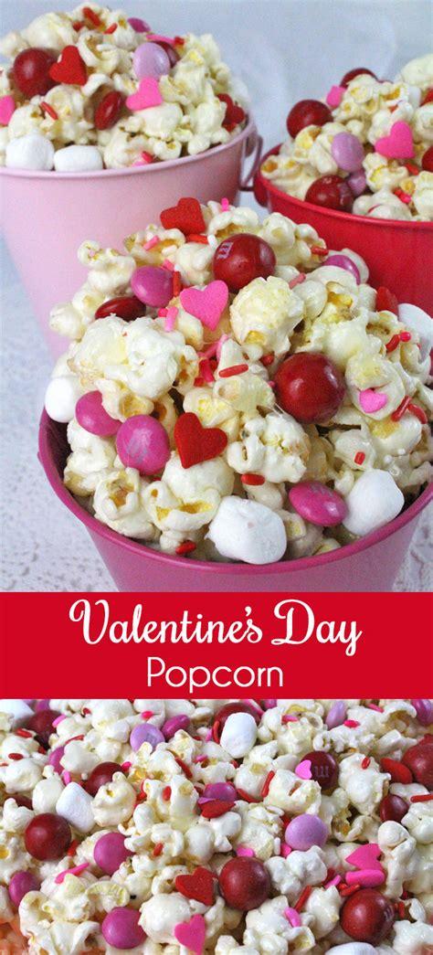 valentines popcorn valentines day popcorn two crafting