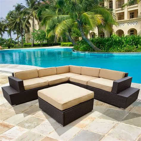 l shaped outdoor sofa contemporary style patio ideas with wicker kroger patio