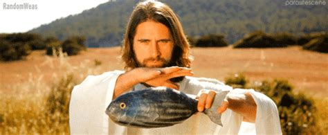 jesus gif images jesus makes more fish animated gif