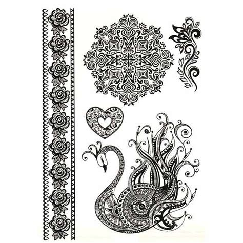 tattoo mandala dentelle tatouage dentelle cygne tatouage ephemere dentelle faux