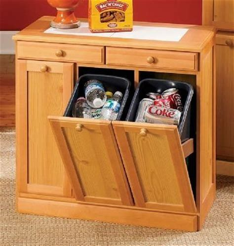 kitchen cabinet storage bins 3 bin recycling cabinet from seventh avenue 174 169 99