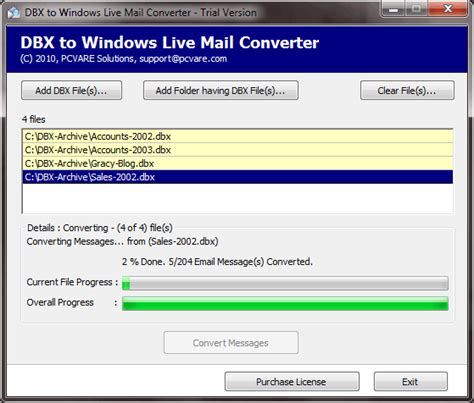 html format windows live mail dbx file format software free download