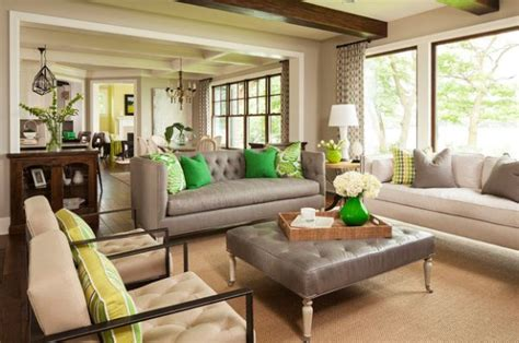 Neutral Green Living Room by Decorating With Green 52 Modern Interiors To Accentuate