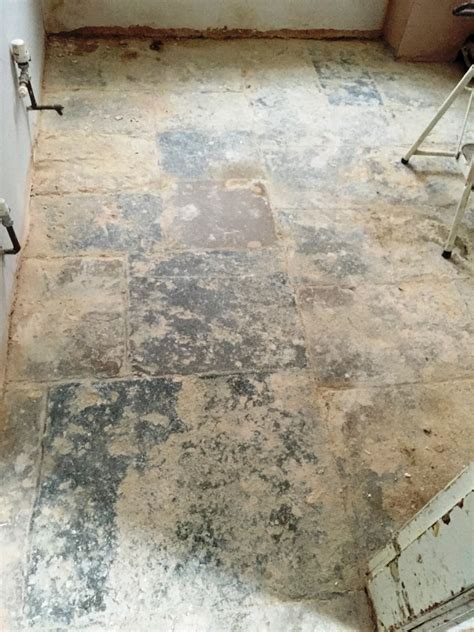 Cleaning and Restoring the appearance of an old Flagstone