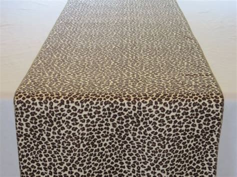 leopard table runner leopard print table runner fully lined 14 x 88 by
