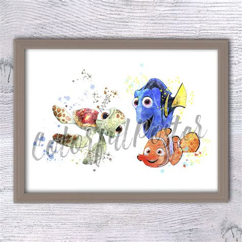 Finding Nemo Nursery Decor Finding Dory Print Finding Nemo Wall Nursery D 233 Cor