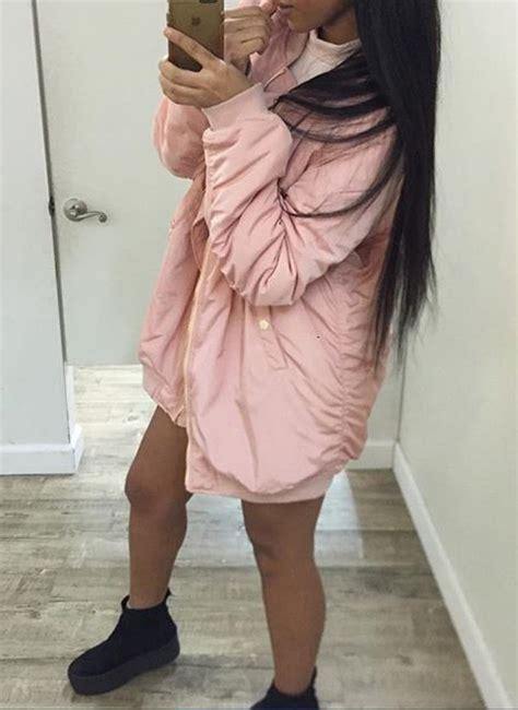 Amoree Dusty Pink coat girly pink dusty pink bomber jacket jacket