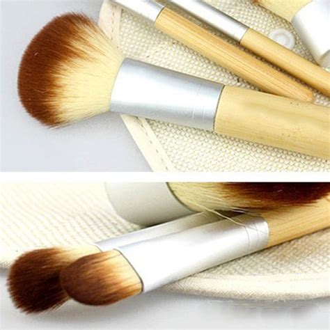 kuas make up bambu 4 set brown white jakartanotebook