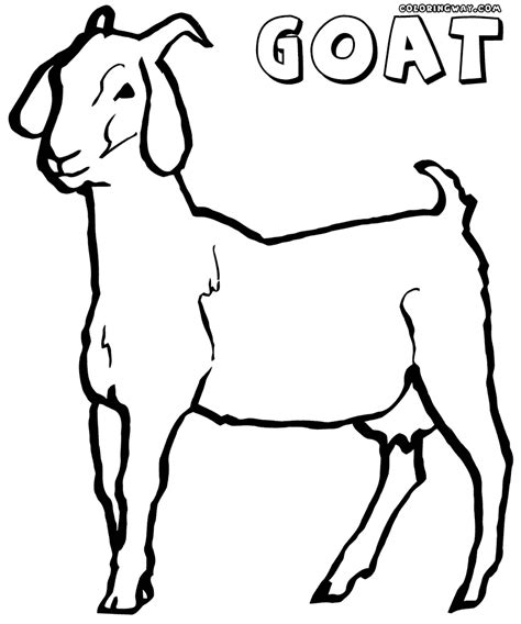 goat coloring pages coloring pages to download and print