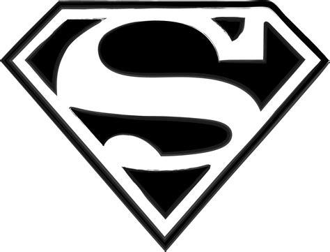 superman logo tattoo black and white superman r logo clipart best