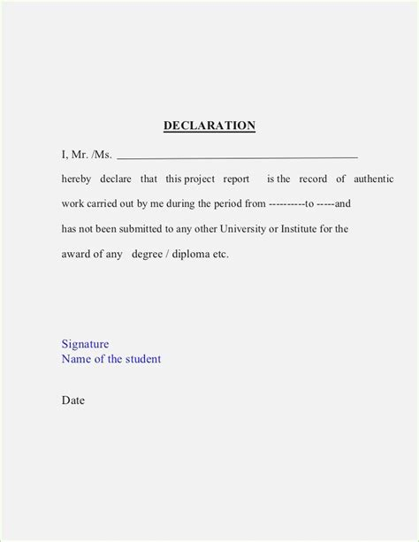 declaration format image collections cv letter