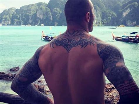 randy orton back tattoo randy orton awesome tattoos t randy orton arm