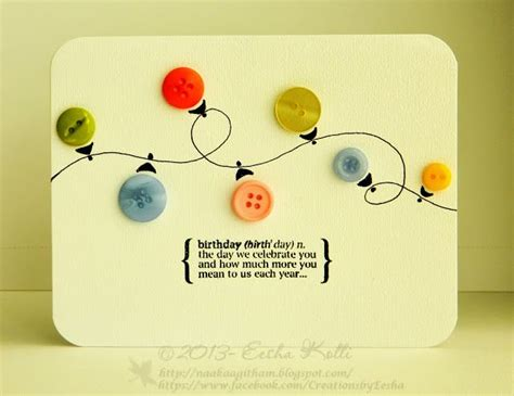 Handmade Cards With Buttons - 345 best cards buttons images on cards