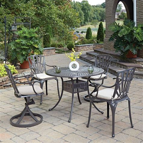 Home Styles Biscayne Black 7 Piece Patio Dining Set (4