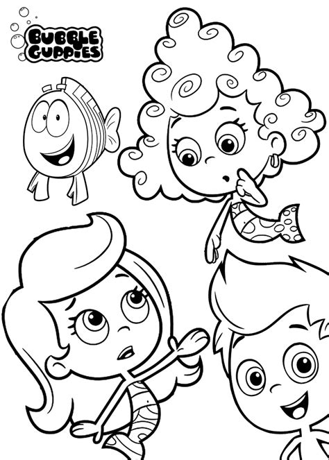 bubble guppies springtime coloring page bubble guppies