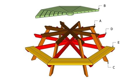 build  octagon picnic table howtospe