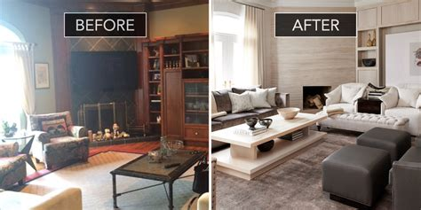before and after decor family room before and after family room design ideas