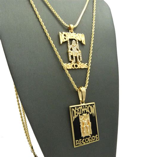 Row Records Chain For Sale Gold Plated Row Records Pendant Datnewice