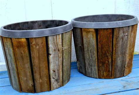 Planter Wood by Make The Best Of Things Pallet Wood Planter Covers Diy Part 1