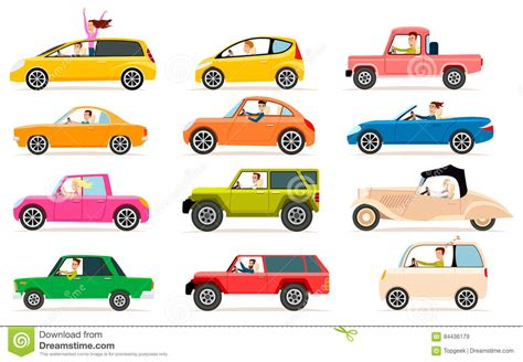 Different Car Types Uk by Collection Of Different Types Of Automobile Cabine Stock