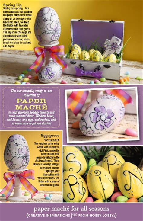 Hobby Lobby Craft Paper - hobbylobby projects paper mache for all seasons