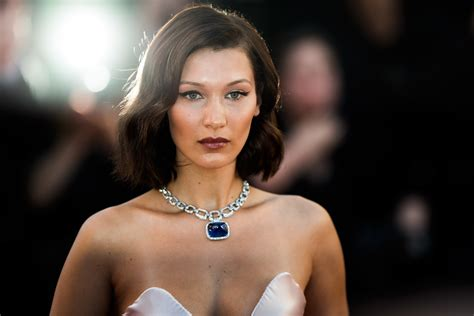 bella hadid bella hadid s cannes gown had another epic leg slit glamour