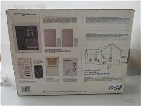 radio shack wireless home security system w emergency