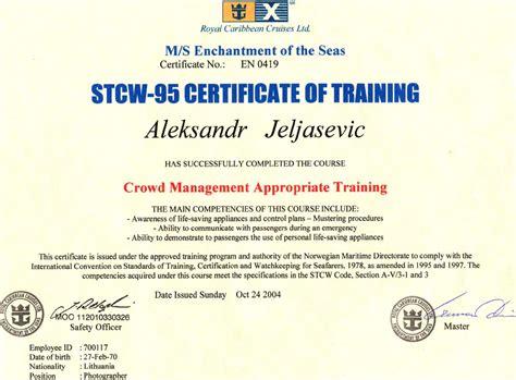 stcw  certificate certificates templates