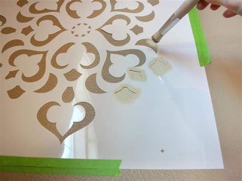 wall paint templates how to stencil a focal wall hgtv