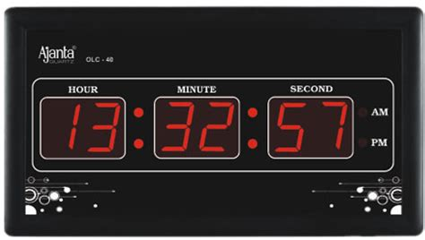 wall clock digital ajanta digital wall clock price in india buy ajanta