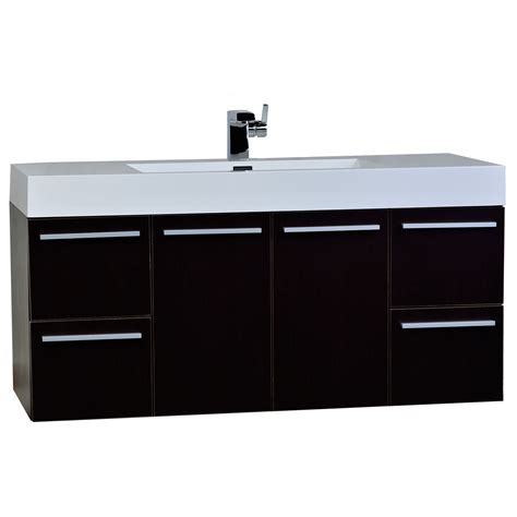 Modern Wall Mounted Bathroom Vanities 47 Inch Wall Mount Contemporary Bathroom Vanity In Espresso Tn Ta1200 Wg Conceptbaths