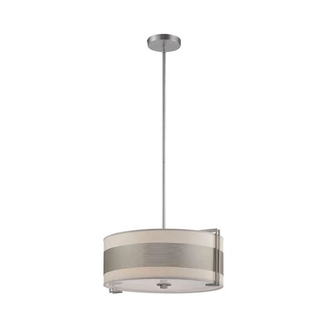 Paper Pendant Ls Illumine Rosenda 3 Light Stainless Steel Pendant With White Paper Shade Cli Ls 19474ss Wht The