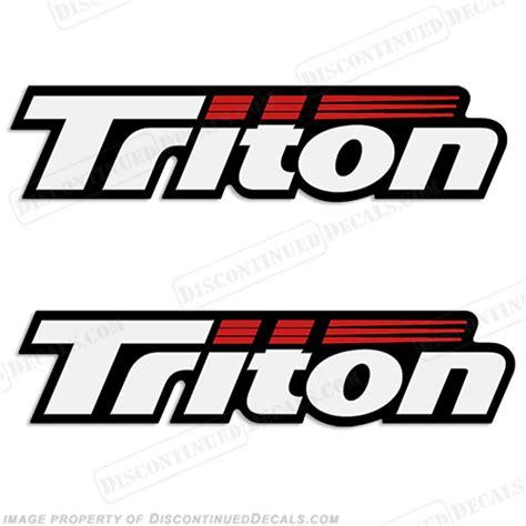 triton boats discontinued triton decals