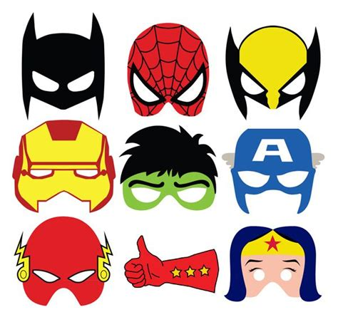 printable heroes mask super cute masks for photo booth or goodie bags mascaras