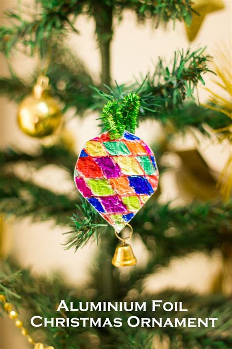 easy tin foil christmas tree ornaments   takes